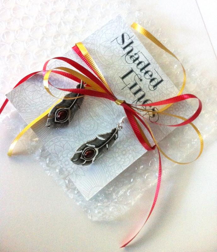 FSU Garnet feather earrings